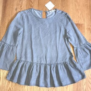 Beach Lunch Lounge gray bell sleeve top